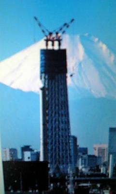 東京の空を上昇中!